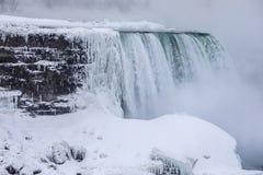 Niagara Falls cubrió en hielo Fotografía de archivo