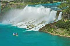 Niagara Falls dal lato degli Stati Uniti immagini stock libere da diritti