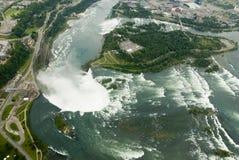 Niagara Falls dall'aria Fotografie Stock Libere da Diritti