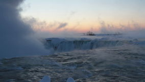 Niagara Falls at Daybread in Winter with Sound Royalty Free Stock Photography
