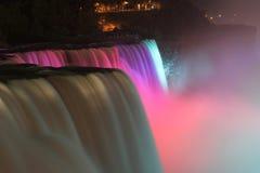Niagara Falls de Night Imagen de archivo libre de regalías