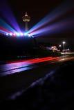Niagara Falls de Night imagen de archivo