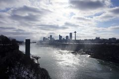 Niagara Falls in de winter stock afbeelding