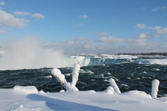 Niagara Falls in de winter Stock Foto's