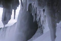 Niagara Falls in de winter Stock Afbeeldingen