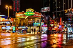 Niagara Falls downtown, Ontario, Canada royalty free stock photos