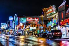 Niagara Falls downtown, Ontario, Canada stock image