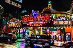 Niagara Falls downtown, Ontario, Canada royalty free stock image