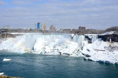Niagara Falls (eingefroren) stockfotos