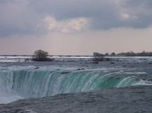 Niagara Falls em março Fotografia de Stock Royalty Free