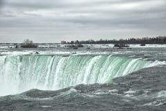 Niagara Falls en Canadá durante invierno Imágenes de archivo libres de regalías