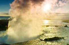Niagara Falls en la salida del sol fotografía de archivo