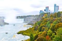 Niagara Falls en otoño Foto de archivo libre de regalías