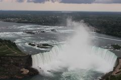 Niagara Falls. Enjoy the cascading water of Niagara Falls (Canada Side Stock Photo