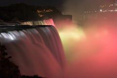 Niagara Falls entro Night Fotografia Stock Libera da Diritti