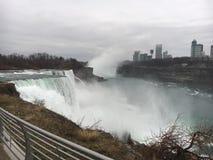 Niagara Falls Förenta staternasida Royaltyfri Bild