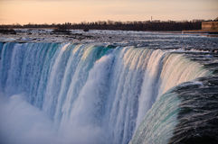 Niagara Falls (fer à cheval) en hiver Photographie stock libre de droits
