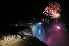 Niagara Falls Fireworks Royalty Free Stock Images