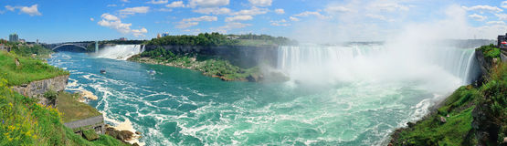 Niagara Falls flyg- sikt Royaltyfri Fotografi