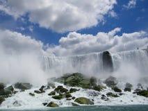 Niagara Falls, foamy. Niagara Falls, American Falls, New York stock images