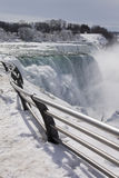 Niagara Falls footpath in winter time. Royalty Free Stock Photos