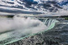 Niagara Falls från den kanadensiska sidan Arkivbilder