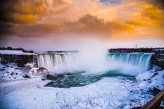 Niagara Falls Freezing waters stock image