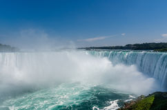 Niagara Falls with Giant mist. This is the Canadian Side of the Niagara falls. this is the Horseshoe Falls Stock Photo