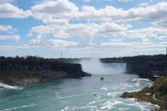 Niagara Falls hästskovattenfall Arkivfoto