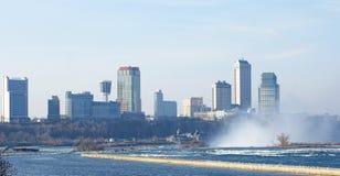 Niagara Falls, horizonte de Ontario foto de archivo