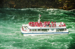 The Niagara falls Hornblower Royalty Free Stock Photos