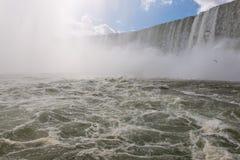 Niagara Falls. Horse shoe Niagara falls from Maid of the mist royalty free stock image