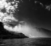 Niagara Falls i svartvitt Arkivbilder
