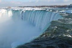 Niagara Falls i vintern arkivfoton