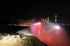 Niagara Falls Illumination stock photography