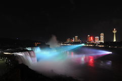 Niagara Falls Illumination Royalty Free Stock Photos