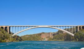 Niagara Falls International Rainbow Bridge Royalty Free Stock Photo