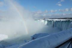 Niagara Falls in inverno Fotografie Stock Libere da Diritti