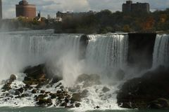 Niagara Falls and its strength. Nature in its beauty and strength. - Niagara Falls Canadian Royalty Free Stock Image