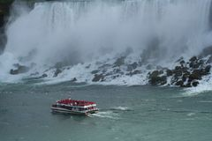Niagara Falls and its strength. Nature in its beauty and strength. - Niagara Falls Canadian Royalty Free Stock Photos