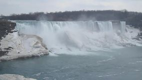 Niagara Falls Kanada April 2019 lager videofilmer