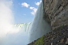 Niagara Falls Kanada, den kanadensiska vattenfallet Arkivfoton