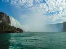 Niagara Falls kanadensiska sidohästskonedgångar royaltyfria bilder
