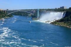 Niagara Falls kaskadlopp USA Kanada arkivfoton