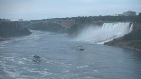 Niagara Falls - the Largest Waterfall In North America stock footage