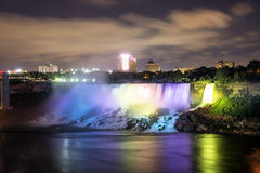 Niagara Falls light show at night Stock Image