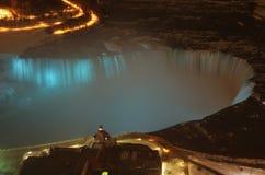Niagara Falls Lit Up Blue Stock Photos