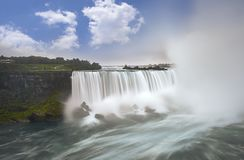 Niagara falls . Long exposure stock image