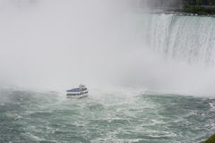 Niagara Falls with maid of the mist Royalty Free Stock Photography