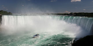 Niagara Falls. Maid of the mist at Niagara falls royalty free stock image